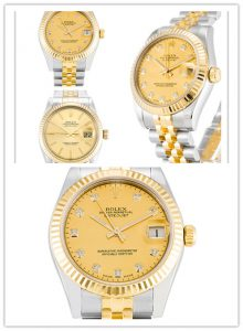 "Циферблат Rolex ""черный бриллиант"" часы Datejust"